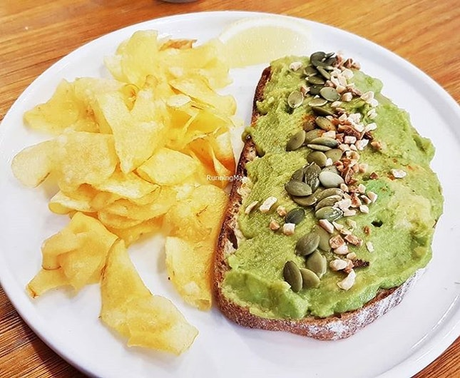 Avocado Toast With Hummus (SGD $12) @ Enchanted Cafe.
