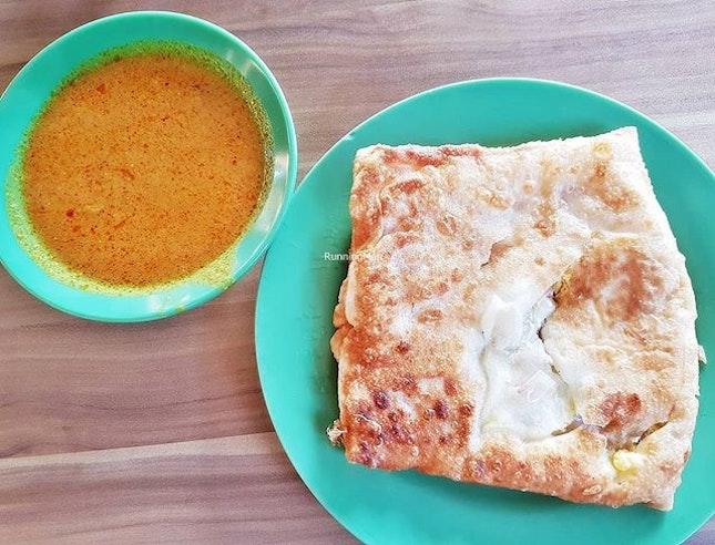 Roti Prata Egg & Onion (SGD $2.40) @ R.K.