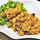 Arrowroot Chips & Lemongrass Chicken Wings (SGD $13.20) @ Xi Yan.
