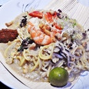 Signature Fried Hokkien Mee (SGD $14) @ WAN Bar + Kitchen.