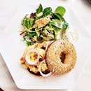 Smoked Salmon Scrambled Egg Bagel (SGD $20) @ Black Fairy Coffee.