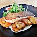 Pan-Seared Salmon Fillet (SGD $19.90) @ The Bravery Cafe.