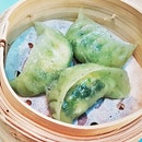 Steamed Spinach Dumplings (SGD $6.50) @ Tai Cheong Bakery.