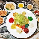 Reunion Abalone Yu Sheng @ Goldleaf Restaurant.