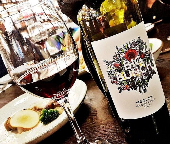Wine Big Bunch Hawkes Bay Merlot 2014 (SGD $48) @ The Gong.