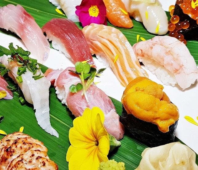 Assorted Sushi (SGD $Market Price) @ Botan Japanese Restaurant.
