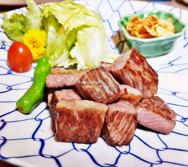 A5 Miyazaki Wagyu Beef (SGD $80 for 100g) @ Botan Japanese Restaurant.