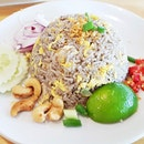 Khao Phad Nahm Liap / Olive Fried Rice (SGD $6) @ Nangfa Thai Kitchen.