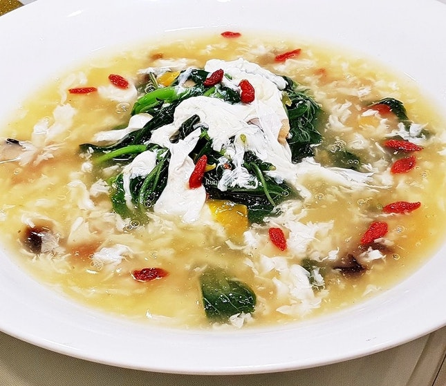 Three Eggs Chinese Spinach (SGD $14 / $21 / $28) @ Diamond Kitchen.
