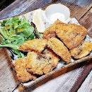 Portobello Mushroom Fritters (SGD $8.90) @ Brunches Cafe.
