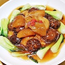 Braised Sea Cucumber With Fish Maw & Mushroom (SGD $58 / $88 / $118) @ Famous Kitchen.