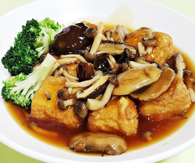 Home Style Beancurd With Mushrooms (SGD $10) @ Hong Kong Chef's Kitchen.