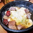 Galbi Tang Insam / Beef Short Rib Soup With Ginseng (SGD $22) @ Go! K-BBQ.