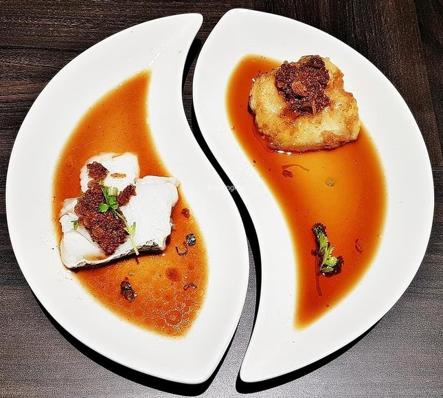Cod Fish Fillet Duo @ Si Chuan Dou Hua Restaurant.