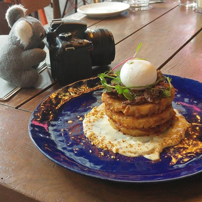 Beef Cheek on Potato Pancake $22.
