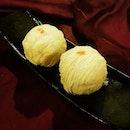 Authentic Single Egg Yolk Crispy Yam Paste $16 each.