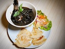 Black Chicken Curry with Musan King Durian $26.80++ .
