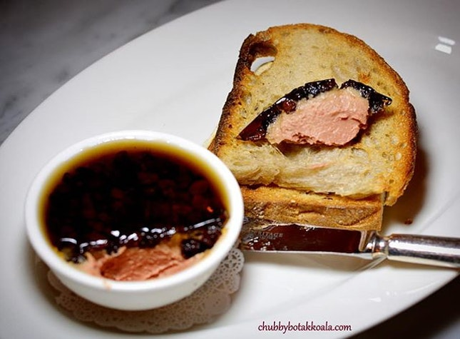 Parfait of Foie Gras Au Raisin Sec ($8 supplement), part of Sunday Roast Menu @theenglishhousesingaporesg .