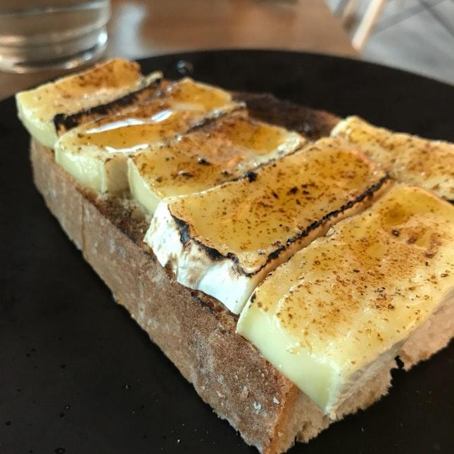 Camembert And Honey Toast
