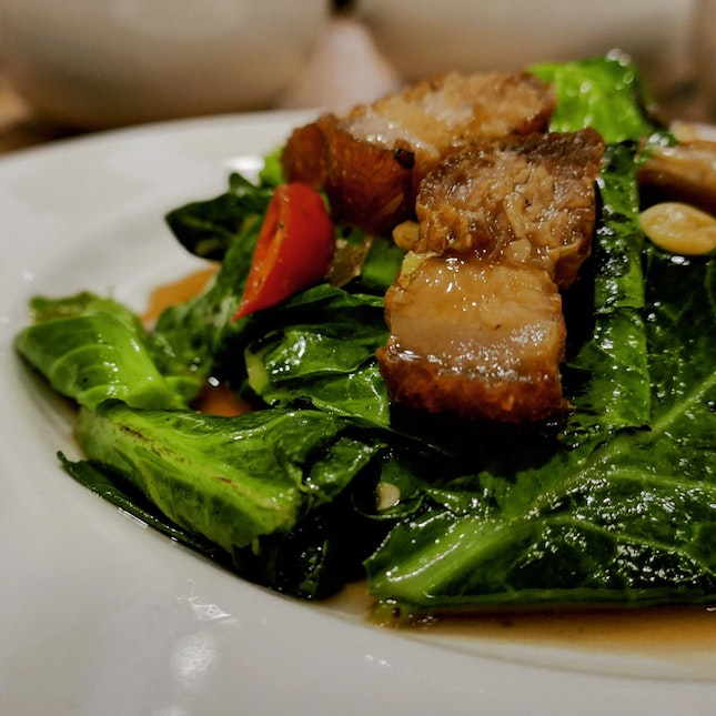 Kailan with Roasted Pork Belly • S$9.90++