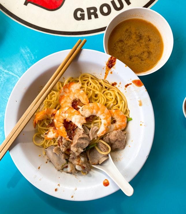 Prawn & Pork Rib Noodles   S$5/8/10
