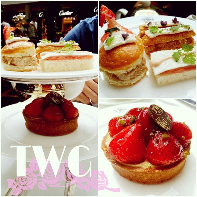 Afternoon tea with ♡ indulging once in awhile to treat ourselves after a tiring work week :P #twg #tea
