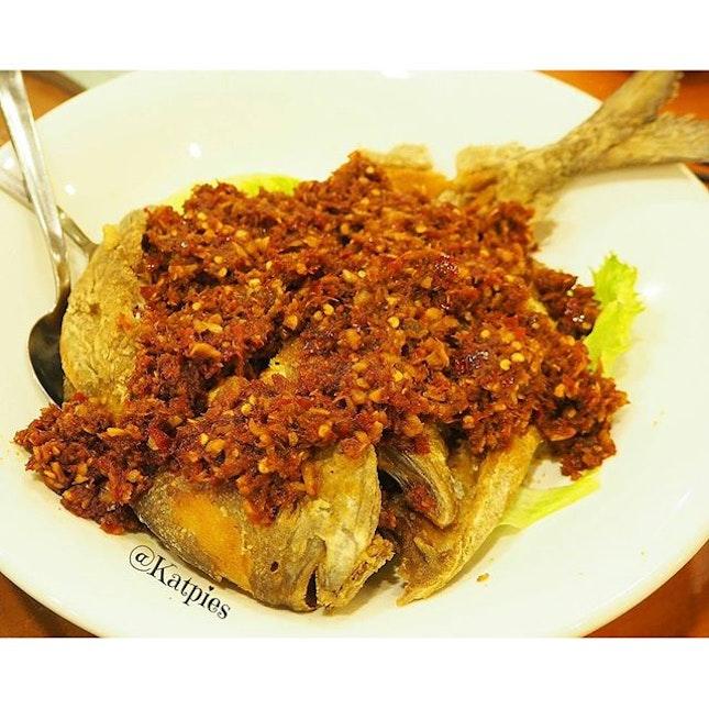 Sambal Fish which is Lai Huat's signature dish.