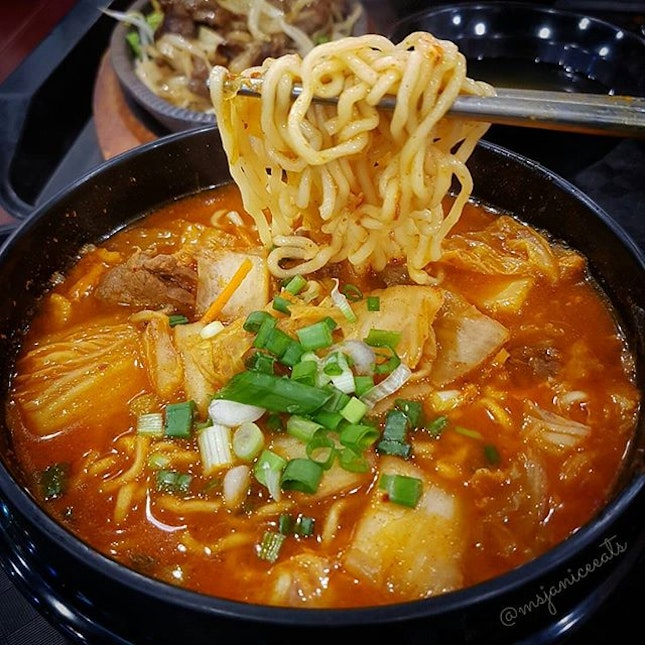 Kimchi Beef Ramen (S$5.50)🍲The recent cold and rainy weather ☔ really heightens one's craving for spicy and soupy food that is ideally served piping hot.