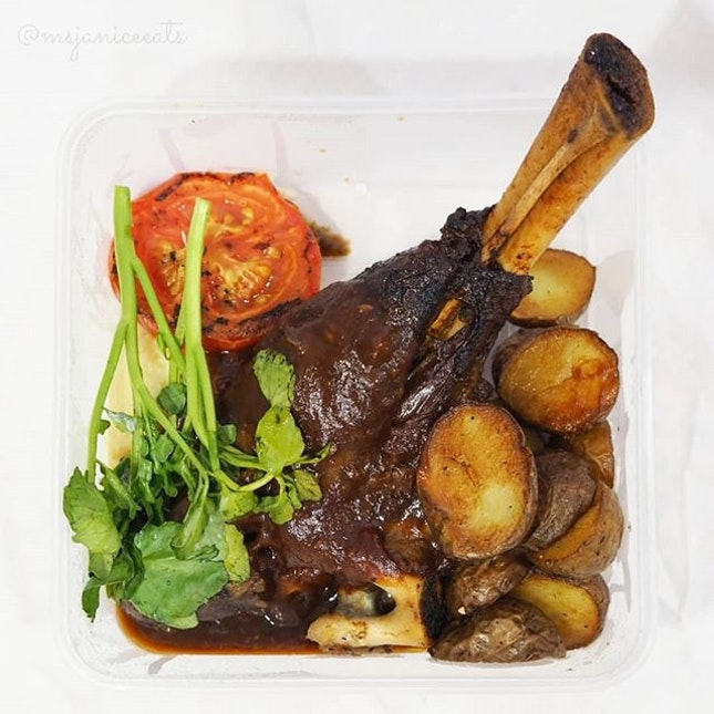 💚 [GRABFOOD] Oasis Steak & Grill ~ Lamb Shank (S$19.80) 💚  It is a carnivorous kind of day!