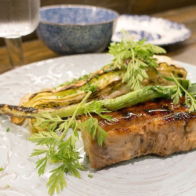 New dish @firebakesg: Tender Braised Pork Belly accompanied with grilled hispi cabbage flavoured with anchovy butter.
