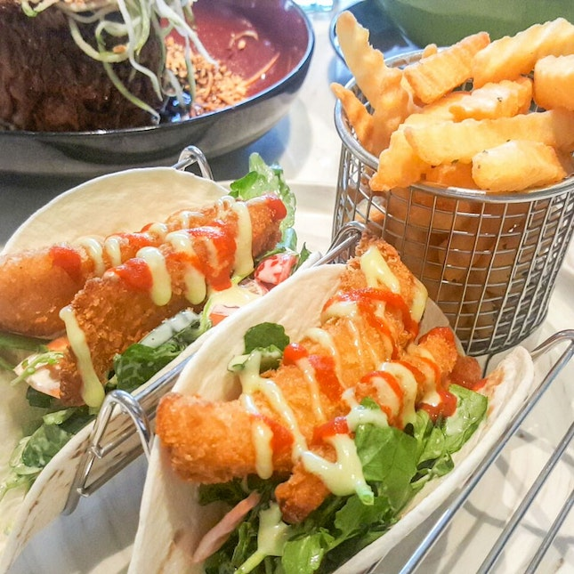 Fish Tacos With Fries ($22)