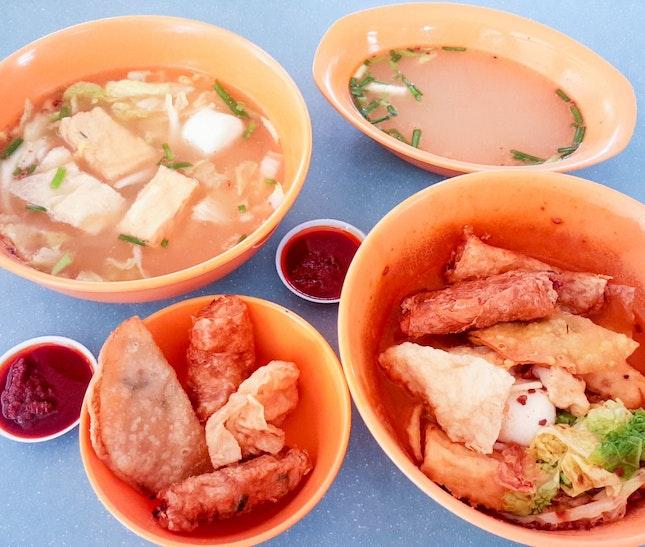 Yong Tau Foo (Dry/Soup, $3)
