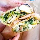 Grilled Caesar Chicken Wrap ($17)