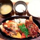 Salmon & Chicken Teppan ($16.90)