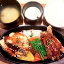 Salmon & Chicken Teppan ($16.90)