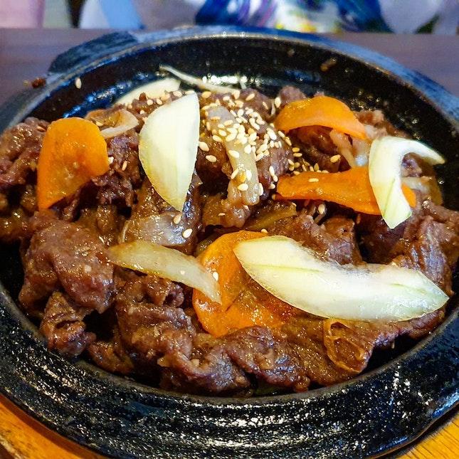 Beef Bulgogi ($15 with rice)