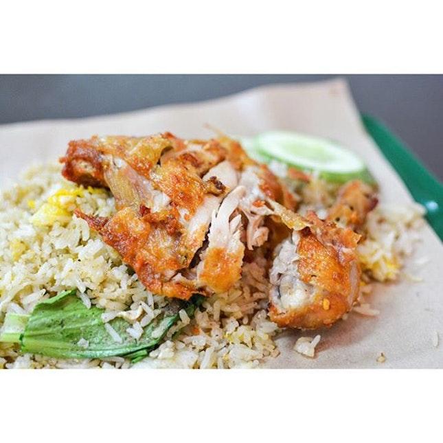 Nasi Goreng with Ayam Goreng  Looks good doesn't it??