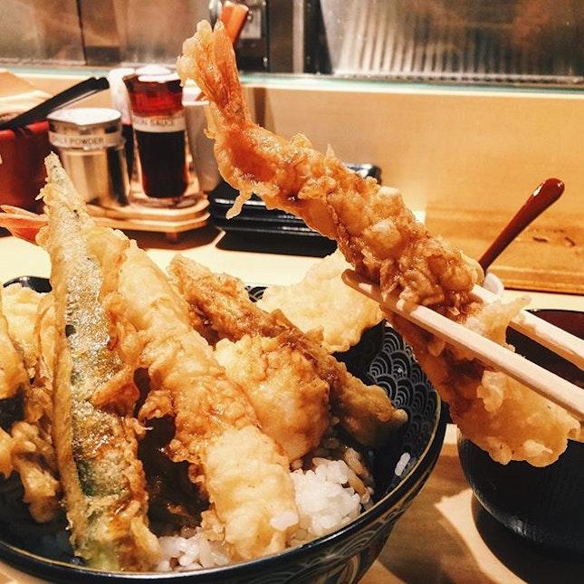 Tendon Ginza Itsuki 🍤🍚 (Tempura Rice or Tendon) at Tanjong Pagar finally opens today on 2nd July!