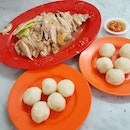 Chicken Rice Balls set for 2 (Rm 22.30, Sgd 7.50 for half chicken; Malacca Iconic Dish, you need to brave at least 1hr+ of queuing under the hot sun for this.