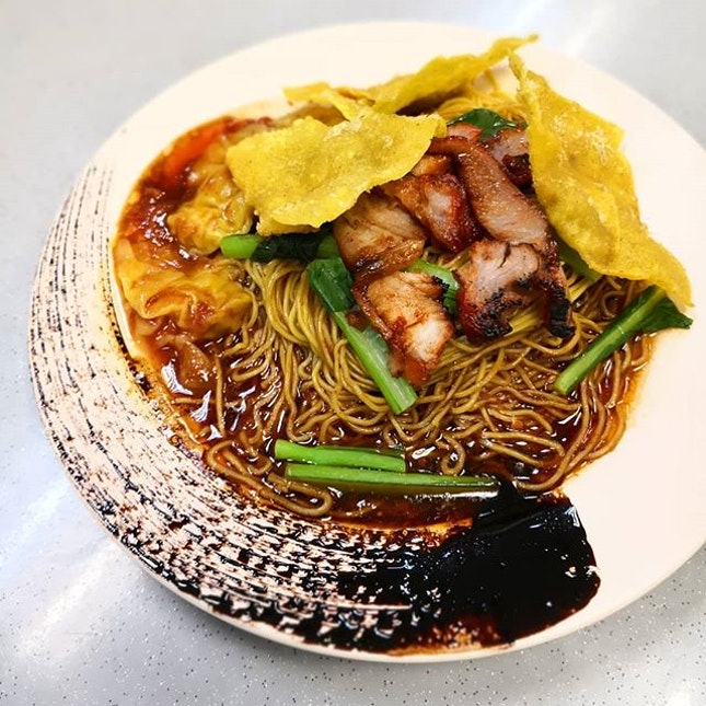 Wanton Noodles ($4/$5) that pays alot of attention on presentation.