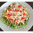 Apple Salad with Sasame Dressing #rm15 #weekend #cafehopping #healthy #vege #savetheearth #herbivore #burple