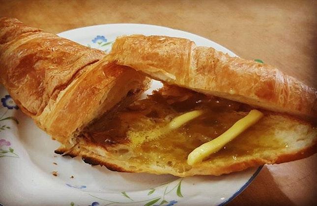 Crossaint local fusion with butter & kaya #牛角包 #burpple #burpplekl #bentong #breadnbutter
