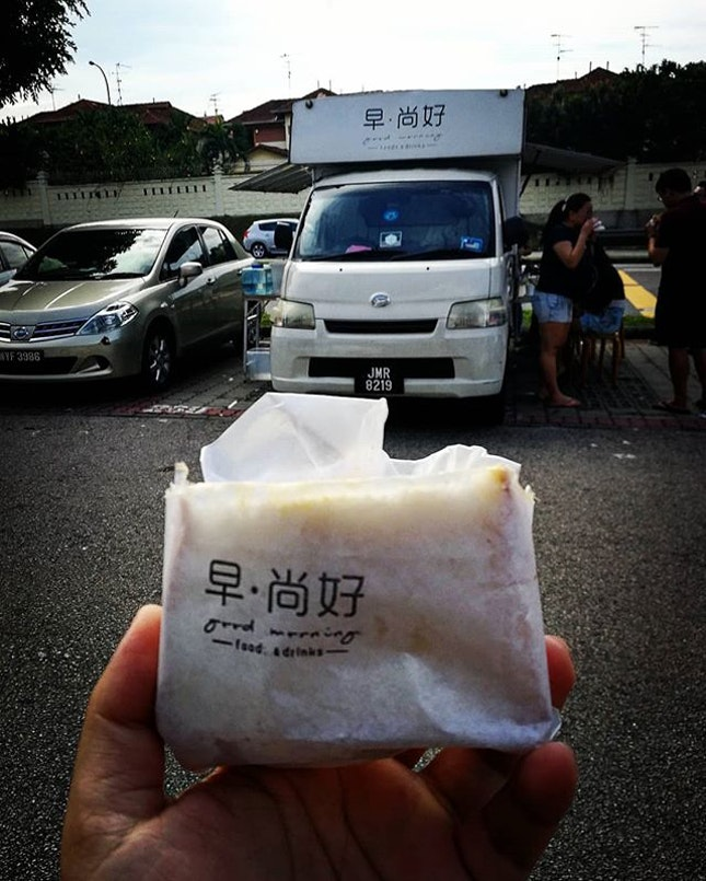 Taiwanese breakfast found in JB  Food truck in front of Midori Hotel...