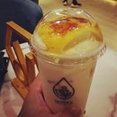 It's a perfect fusion, if you like creme brulee & milk tea!