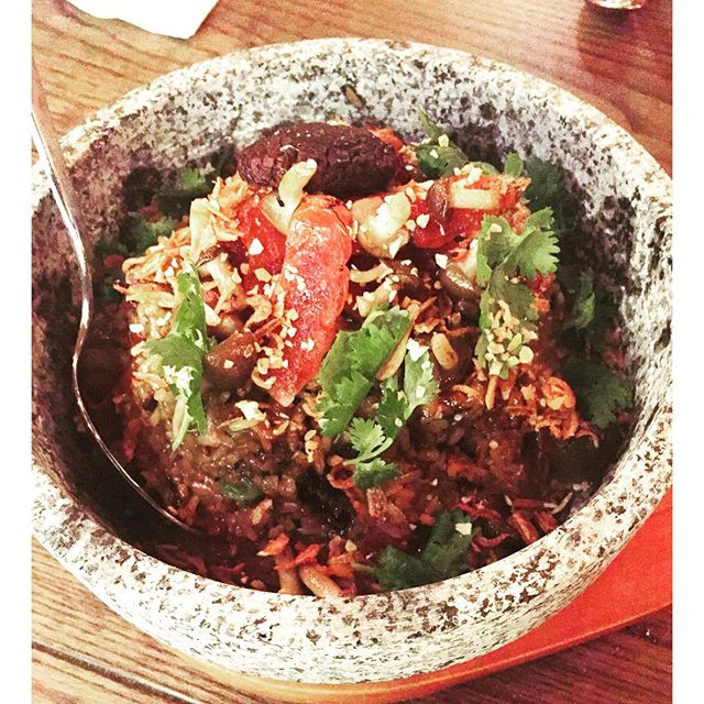 A twist on clay pot rice at @theeastbureau.