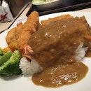 Katsu curry at Romankan Yokohama.