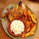 Half chicken at @nandossg.