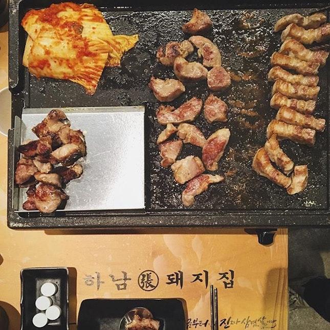 ; BBQ Sam Gyup Sal  I've always loved meat heavy meals.