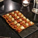 ; Patatas Bravas FOC An eye-catching yet unconventional presentation of Spain's native tapas dish.