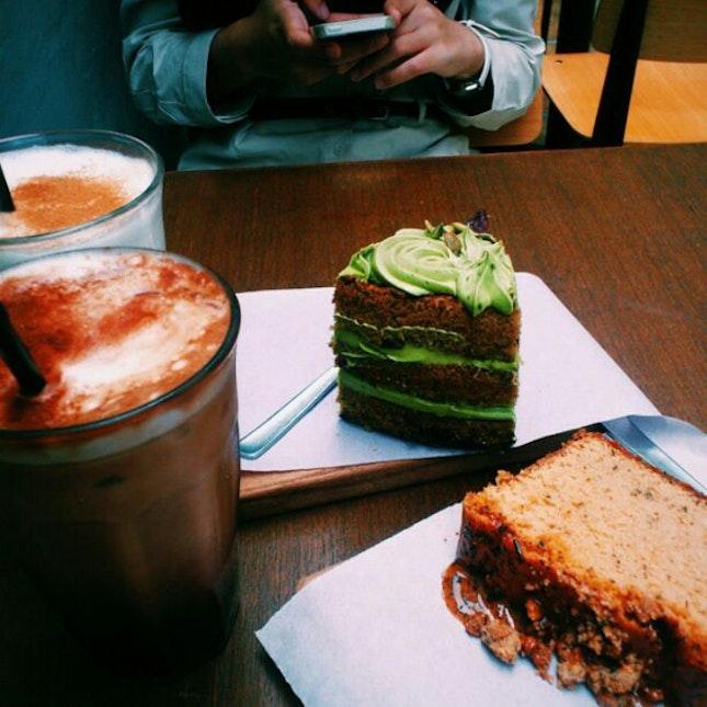 their thai milk tea loaf, so good.